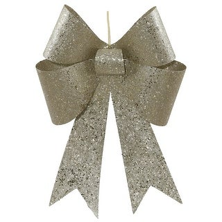 18'' Champagne Sequin Bow 2/Bag