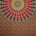 Handmade Sanganer Mandala Peacock 100% Cotton Tapestry Tablecloth Bedspread in Red Blue & Green colors in Twin & Full sizes - Thumbnail 12