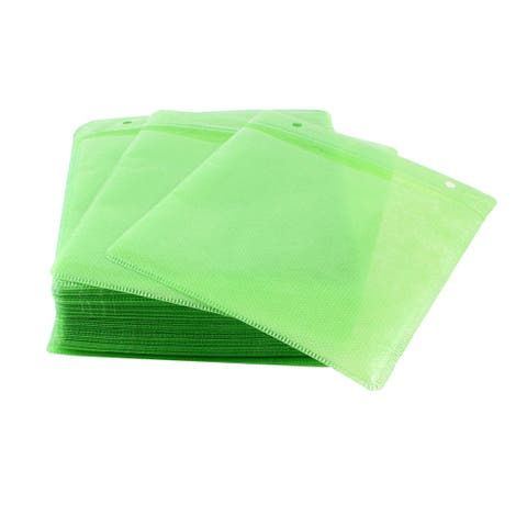 Green Non-woven Fabric Anti Dust Home CD Compact Disc Storage Bag 100 Pcs