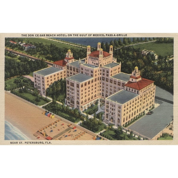St. Petersburg, Florida - Don Ce-Sar Hotel (Art Print - Multiple Sizes)