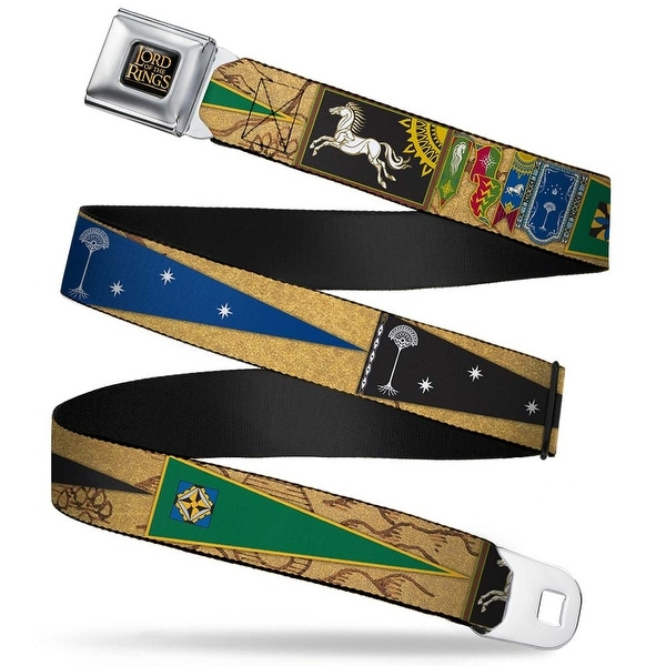 The Lord Of The Rings Full Color Black Gold The Lord Of The Rings Flags And Seatbelt Belt