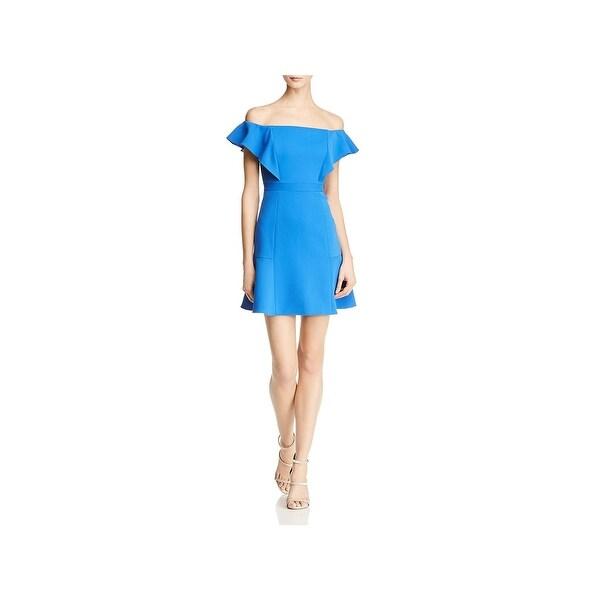 05269630e7f Shop BCBG Max Azria Womens Alandra Cocktail Dress Off-The-Shoulder ...