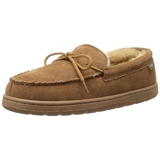 Dije California Mens Suede Wool Lined Moccasin Slippers - 8 medium (d)