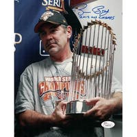 Bruce Bochy Autographed San Francisco Giants 2012 World Series 8x10 Photo