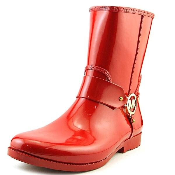 MICHAEL Michael Kors Womens Fulton Harness Rubber Closed Toe Mid-Calf Fashion...