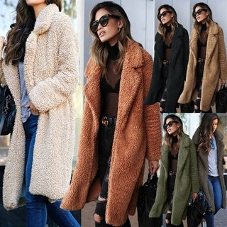Plush Lightweight Fuzzy Knit  Coat