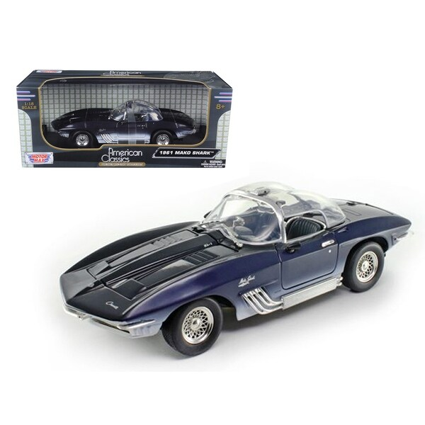 Shop 1961 Chevrolet Corvette Mako Shark Blue 1/18 Diecast