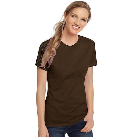 Hanes Women's Nano-T® T-shirt - Size - M - Color - Dark Chocolate