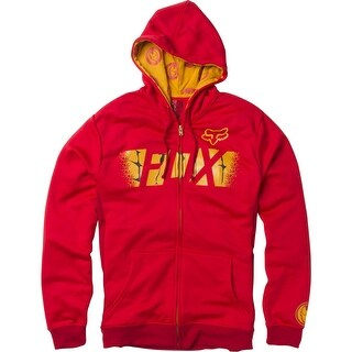 Fox Racing 2016 Men's Marvel Iron Man Zip Hoodie - 20239 - Red