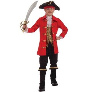 Forum Novelties Captain Cutlass Child Costume (L) - Red - Large