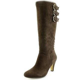 Bella Vita Transit II Women WW Round Toe Synthetic Brown Knee High Boot