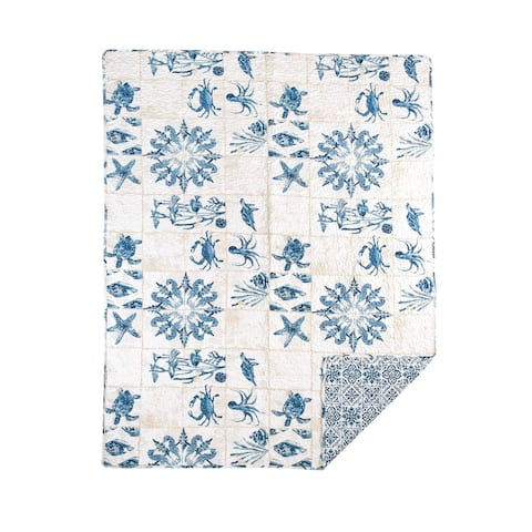 Casablanca Bay Quilted Throw