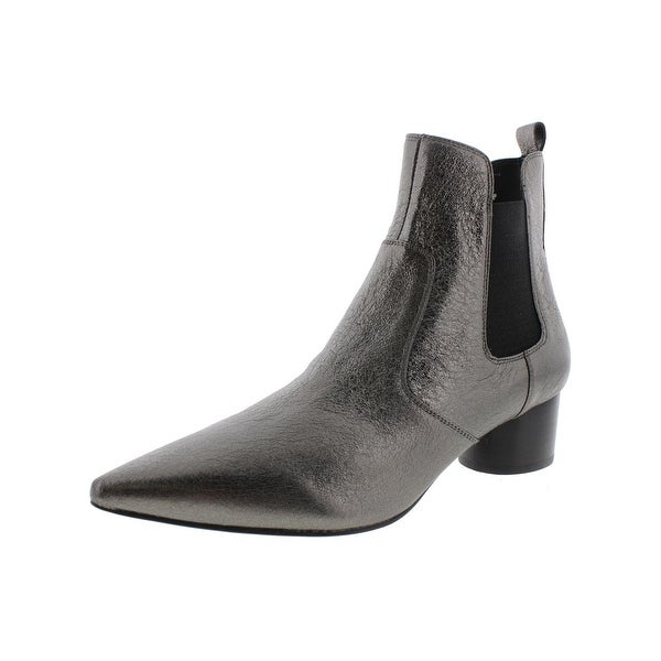 Kendall + Kylie Womens Logan Ankle Boots Suede Pointed Toe