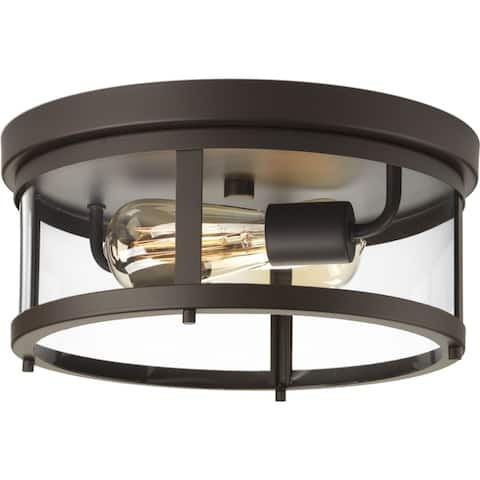 "Gunther Collection 12-5 8"" Flush Mount - 10.000"" x 15.250"" x 15.500"""