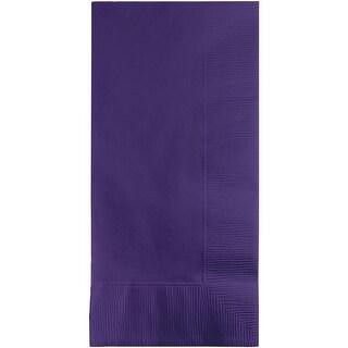 "Club Pack of 600 Purple Premium 2-Ply Disposable Dinner Napkins 8"""