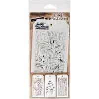 Tim Holtz Mini Layered Stencil Set 3/Pkg-Set #10
