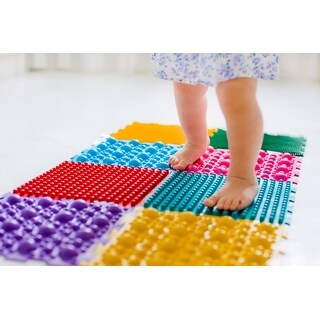 Link to STP-Goods Rainbow Orthopedic Relaxing Massage Mat for Kids - Multi Similar Items in Activity Gear