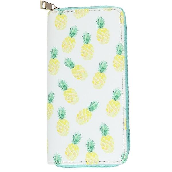 CTM® Women's Zip-Around Pineapple Print Wallet - One size