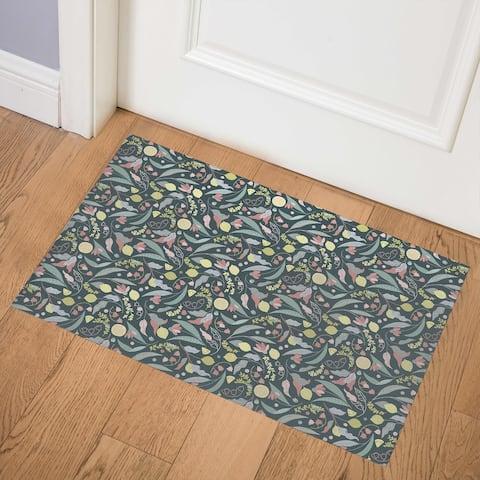TILLY FRUIT JUMBLE MORNING GREY Indoor Floor Mat by Kavka Designs