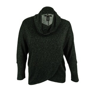 Style & Co. Women's Cowl Neck Crossover Front Top