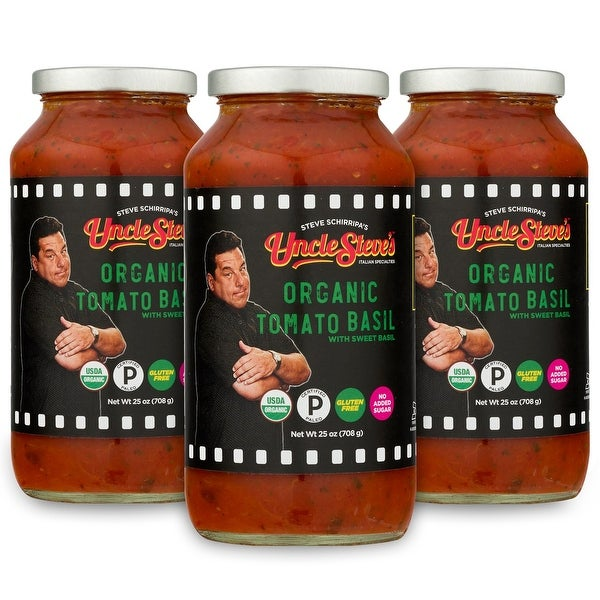 Uncle Steves Sauce - Basil - Case of 6 - 25 oz.