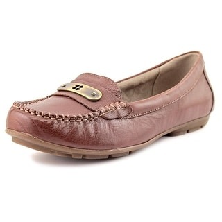 Naturalizer Kaster Women Round Toe Leather Brown Loafer