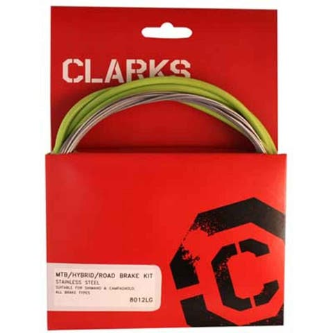 Clarks Cable Brake Clk Kit F+R Ss Spt Rd/Mt Grn - 8012 GREEN