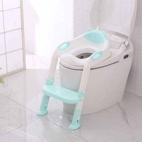 Toddler Toilet Potty Training Seat with Sturdy Non-Slip Ladder