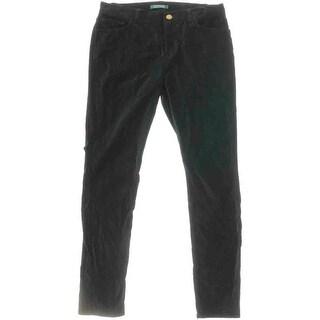 Lauren Ralph Lauren Womens Velvet Stretch Skinny Pants