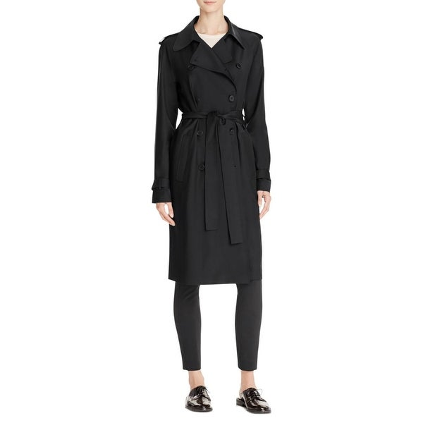 48ec2ab644 Shop Theory Womens Laurelwood Trench Coat Fall Wool Blend - L - Free  Shipping Today - Overstock - 24208452