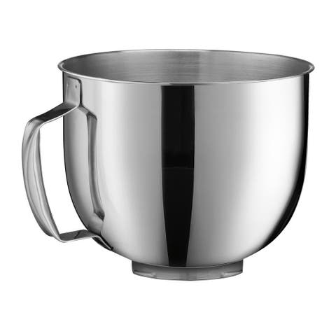 Cuisinart SM-50MB 5.5-Quart Mixing Bowl Attachment for 5.5 Qt. Stand Mixer, Stainless Steel
