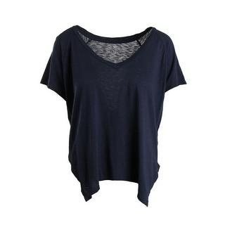 VELVET BY GRAHAM & SPENCER Womens Modal Slub Pullover Top