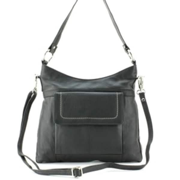 Shop Medium Shoulder Bag With Outside Pocket - Free ...