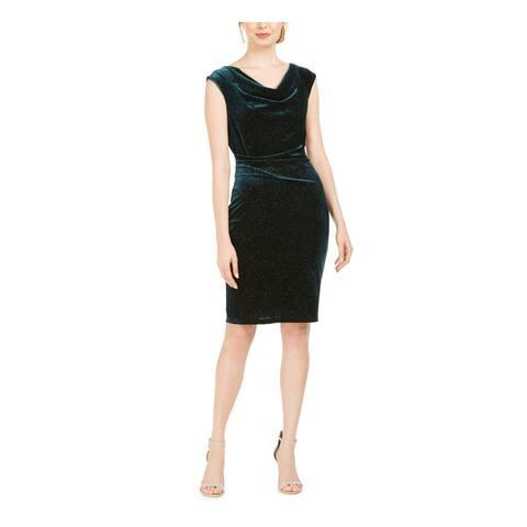 JESSICA HOWARD Green Sleeveless Knee Length Sheath Dress Size 10