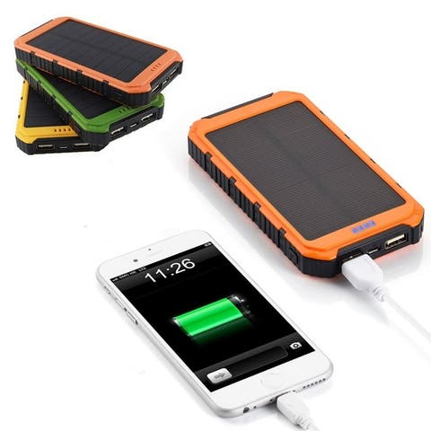 Roaming Solar Power Bank Usb Phone Or Tablet Charger For Iphone, Ipad, Android