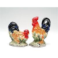 Cosmos Gifts 56535 Rooster Salt And Pepper