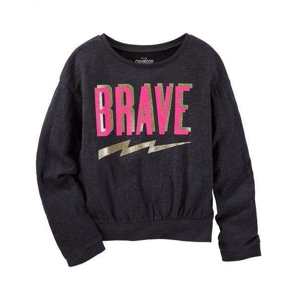 9c191c7d2 Shop OshKosh B'gosh Little Girls' Brave Jersey Pullover, 6 Kids - Free  Shipping On Orders Over $45 - Overstock.com - 17818560