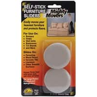 "2.25"" Round 4/Pkg - Mighty Movers Self-Stick Furniture Sliders"