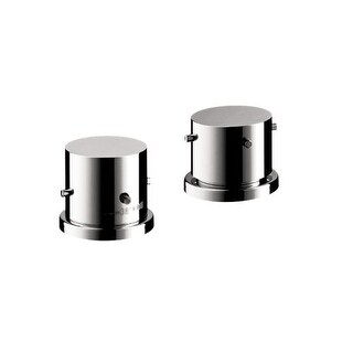 Axor 10480 Starck Valve Trim Only Thermostatic Deck Mounted with Metal Knob Handles Less Valve