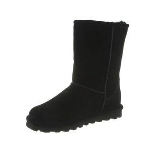 Bearpaw Boots Womens Elle Short Faux Fur Lined Suede Waterproof