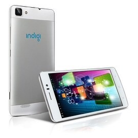 Indigi® Factory Unlocked 3G V19 SmartPhone 5.5inch HD Android 4.4 KitKat Dual-Core Dual-Sim Smartphone (White)
