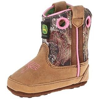 John Deere Infant Girls Leather Booties