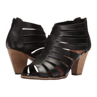 Walking Cradles Womens Geena Leather Peep Toe Casual Strappy Sandals - 7
