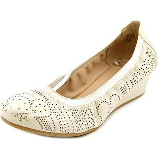 Easy Spirit Deon Women Open Toe Leather Wedge Heel