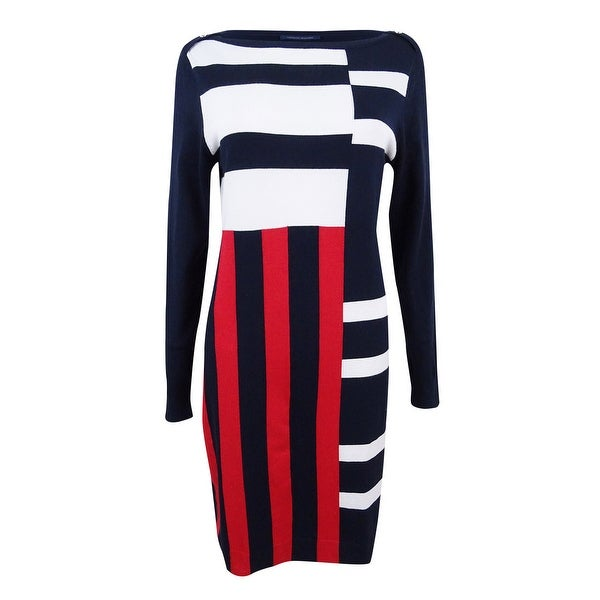 ae9cc29770b Shop Tommy Hilfiger Women s Mixed-Stripe Sweater Dress (M