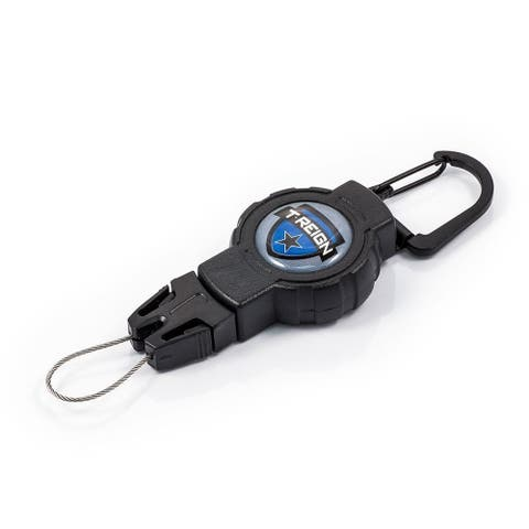 T-Reign OTRG-411 Small Outdoor Retractable Gear Tethers with Carabiner, Black