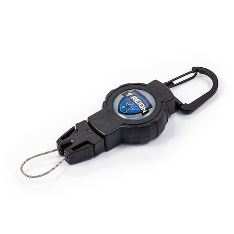T-Reign OTRG-421 Medium Outdoor Retractable Gear Tethers with Carabiner, Black