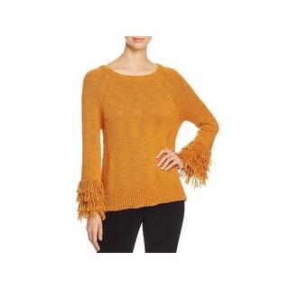 MICHAEL Michael Kors Womens Sweater Fringe Cuff Knit