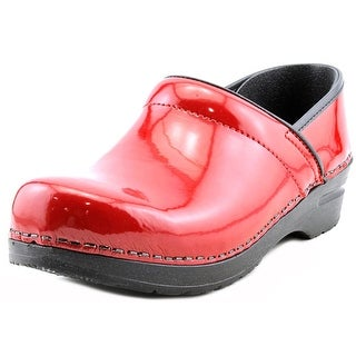 Sanita Original Prof. Lisbeth Round Toe Leather Clogs