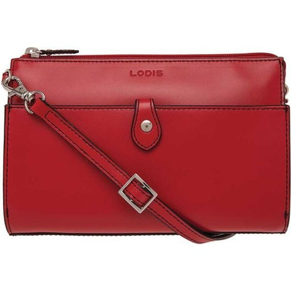 Lodis Women's Audrey RFID Vicky Convertible Crossbody Clutch Red - US Women's One Size (Size None)